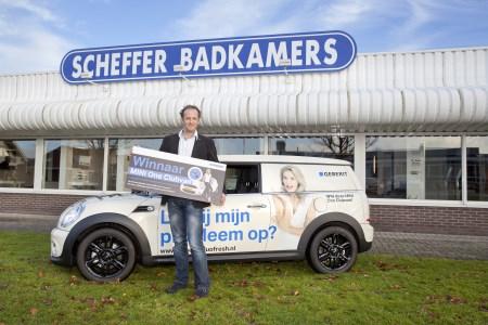 Contact Bronckhorst Noord - Scheffer Badkamers BV wint MINI One Clubvan