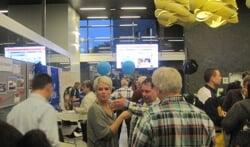 Speaker Natalie van Workum interviewt een matchmaker. Foto: Rob Weeber.