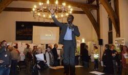 Gastspreker Bright Richards inspireerde met zijn verhaal. Foto: Alize Korf