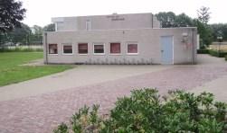 Het Bernard Vos Clubhuus in Lievelde dat duurzaam wordt aangepast.