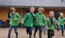 Ook de jongste leden van Scouting zijn blij met het nieuwe gebouw. Foto: Frank Vinkenvleugel