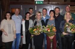 Op bijgaande foto van links naar rechts: Jill en Eddy Dusseldorp, Marloes en Jesse van Laarhoven, Kelly en Arno Hummelink, Ria en Johan Scholten en Nicole en Coen Harbers. Foto: PR