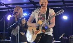Chantal en Luuk op het podium. Foto: PR