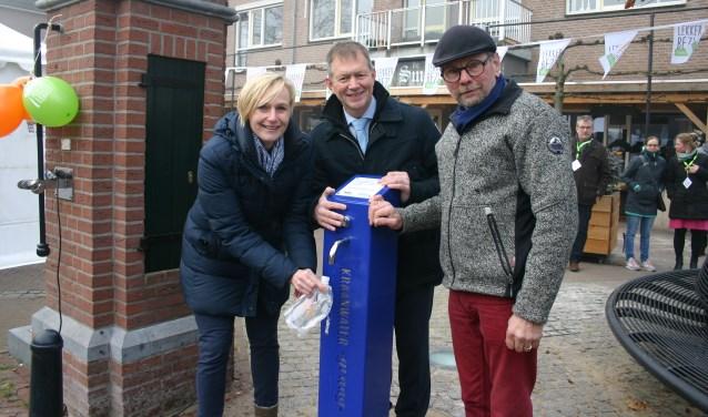 Tijdens 'Lekker Bezig' werd ook het watertappunt officieel geopend
