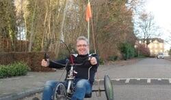 Sinds kort traint Wilco Klein Nengerman wekelijks in teamverband voor de handbikebattle op het Roessingh in Enschede. Foto: Jan Hendriksen.
