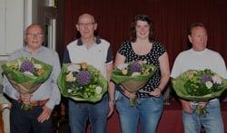 Van links af  Arnold Kemkens, Frans te Brake, Nienke Pothoven en Jos Rosendahll. Foto: PR