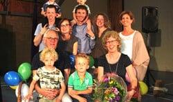 Paul  en Annetta met kinderen, aanhang en kleinkinderen. Foto: