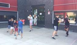 Ook kickboxen is een van de activiteiten. Foto: PR