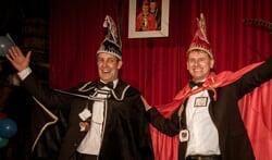 prins Ronny en adjudant Herbert die deze avond hun opvolgers zullen verwelkomen. Foto: Kyra Broshuis