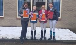 Indoor afvaardigingen 2017: Michelle, Kirsten, Jasmijn en Lisanne. Foto: Richelle Kroesen