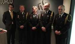 Burgemeester Van Oostrum samen met Herman Uenk, Aard Ribbers, Huub ten Have en Bert Stegeman. Foto: PR.