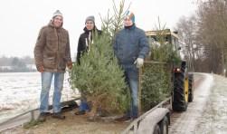 In De Heurne werden de kerstbomen gehaald. Foto: Frank Vinkenvleugel
