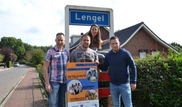De commissie Kermis in Lengel (vlnr) Bas Kock, Mark en Marjon Römer en Wouter Giesen. Foto: PR