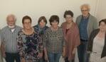 Van links naar rechts Bep, Henriëtte, Anneke, Jet,  Marjon, Kees en Marlies. Joop ontbreekt. Foto Marinus ter Horst