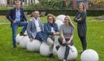 van links naar rechts: Gerrit Vervelde, Tom Schreurs, Nolda Stemerdink,  Marijke Legters en Barbara Nijenhuis. Foto: PR