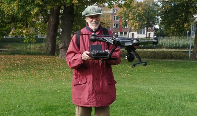 de camera onderaan de Drone leveren foto's op met 4D-kwaliteit. Foto: Meike Wesselink