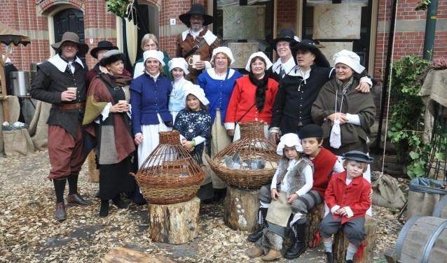 Kegelaars van De Zon in 17e-eeuws kledij. Foto: Mark Ebbers