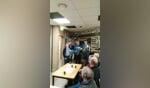 Leo Bleumink, Joan Huitink en Bart Overbeek werden gehuldigd voor hun 60-jarig lidmaatschap. Foto: PR
