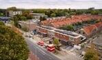 Luchtfoto van de gerenoveerde woningen aan de Warnsveldseweg. Foto: PR