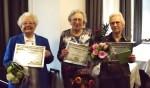 De drie jubilarissen van de PCOB. Foto: Derk Beernink