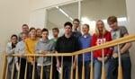 De leerlingen van De Triviant op bezoek bij Achterhoek Nieuws. Foto: Verona Westera