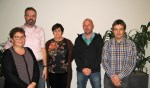 Yvonne Kuska, Hans van der Vuurst, Bernadet Klein Gunnewiek, René Grevers en Henk-Jan Klooster. Foto: Bart Kraan