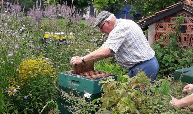 De imker levert een bijdrage aan het behoud van flora en fauna. Foto: PR