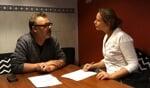 De overdracht van Hans Boersbroek naar Meike Wesselink. Foto: PR