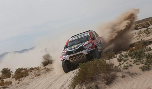 De Toyota Hilux waarmee Bernhard ten Brinke 'Le Dakar' gaat rijden. Foto: BTB-Racing