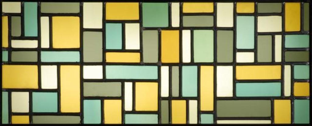 Een voorbeeld van glas-in-lood van Theo van Doesburg. Foto: PR