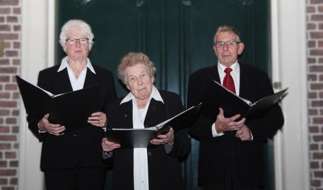 Wilhelmien Aalbers, Thea Beerten en Willy Hendricksen (vlnr). Foto: Truus Jansen