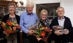 Van links naar rechts: Hendrika en Antoon Vruggink en Mini en Hans te Riet. Foto: PR.