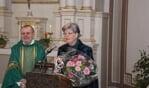 Elly Scheffer-Klaassen werd gehuldigd voor haar 25-jarig lidmaatschap van Caecilia Verband. Foto: Frank Vinkenvleugel
