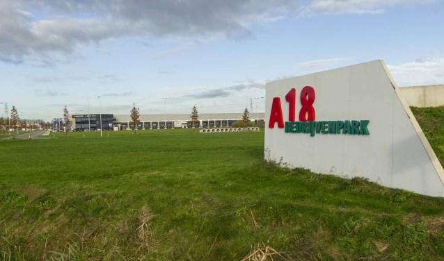 Het A18 Bedrijvenpark als alternatief voor een zonnepark? Foto: PR