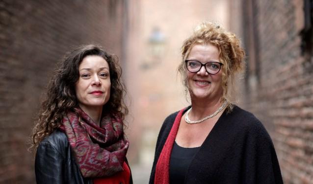 Merel Hubatka en Merel Harkink. Foto: Patrick van Gemert
