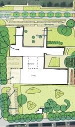 Het IEKC in de variant met behoud van een deel van de St. Ludgerusschool. Illustratie: Gemeente Oost Gelre