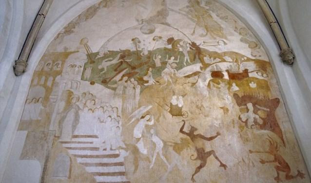 Eén van de fresco's in de Oude Helenakerk. Foto: PR
