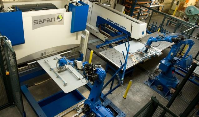 Samenwerkende robots in één cel. Foto: PR