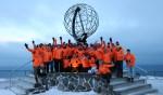 Groepsfoto op de Noordkaap. Foto: PR Expeditie Noordkaap