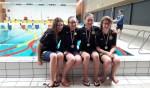 Nikki, Mandy, Sanne en Fleur behalen zilver met vier keer 100 meter wisselslag estafette. Foto: PR