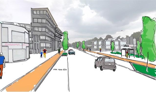 Raadhuisstraat in de toekomst?  Foto: artist's  impression