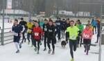 DZSV'ers aan de start bij een sneeuweditie van de nieuwsjaarsloop. Foto: Wim Nieuwboer