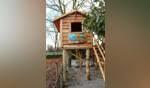 Silvio's Boomhut in Vorden, gerealiseerd met de opbrengst van de zwemmarathon in Steenderen. Foto: PR