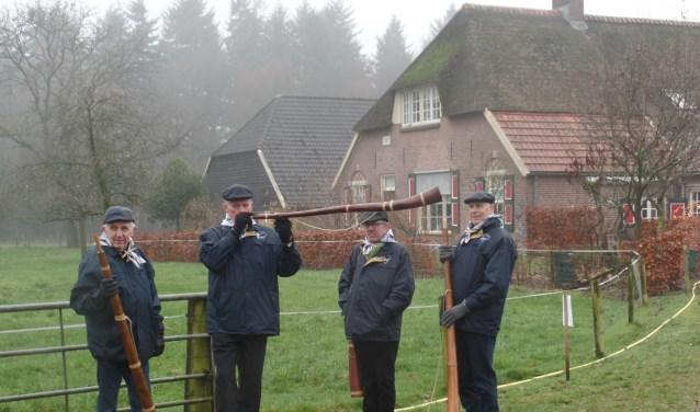 Midwinterhoornblazers uit Kotten bij boerderij Lievestro. Foto: PR.