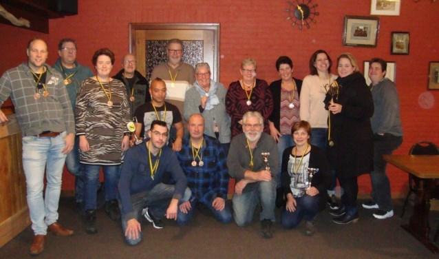 De prijswinnaars van het schiettoernooi van Wilhelmina. Foto: PR.