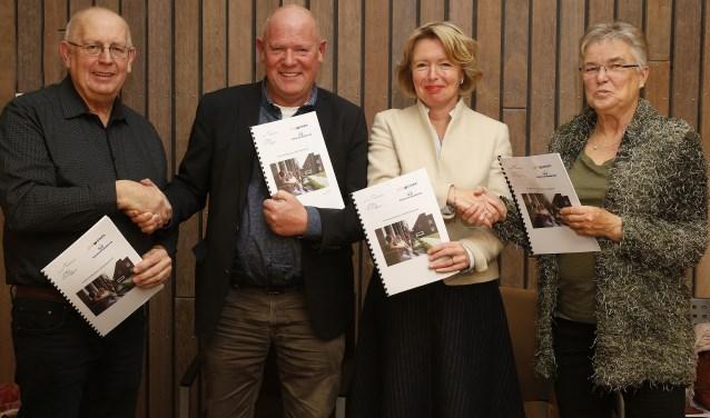 Van links naar rechts: Erwin Wolfs, Henk Meulenkamp, Patricia Hoytink-Roubos en Nardy Cupers. Foto: Hans Prinsen