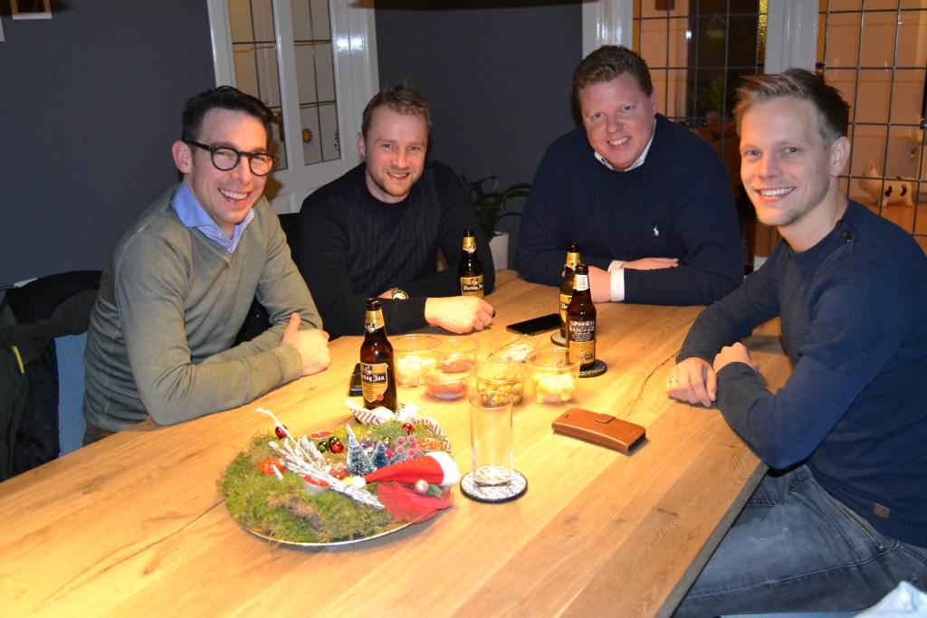 Van links af: Egbert Ketelaar, Jurjen Wisselink, Arjan Mooij en Rick Navis. Foto: Karin Stronks