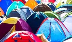 Tenten, in alle soorten en maten, tijdens de tentenspecial bij Obelink. Foto: PR