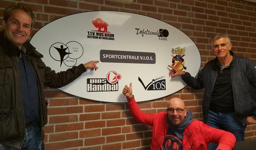 Het DB van 'Sportcentrale Beltrum'; vlnr Erwin Hoitink, Sander Esselink en Marcel Helmers.