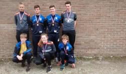 De winnaars bij de persoonlijke kampioenschappen jeugd, waaronder Wouter Rooks en Tim te Bogt. Foto: PR